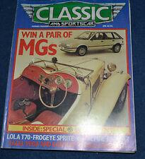 Classic & Sportscar April 1983 MG, Lola, Alpine Renault, Droopsnoot Firenza