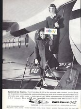 FAIRCHILD AIRPLANE CO F-27 TAILORED FOR PROFITS F/A & LITTLE GIRL BOARDING AD