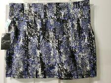 Miss Majesty Junior Skirt Stretch Mini Geometric Black White Gray Blue Sz 3X NWT