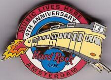 Hard Rock Cafe AMSTERDAM 4th ANNIVERSARY TRAIN PIN