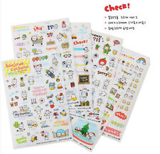 Funny 6 Sheet Pig Transparent Calendar Diary Book Sticker Scrapbook Decoration