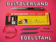 2x 30° Grad Profi CUTTERMESSER Folienmesser 9mm Edelstahlmesser / 2 Ersatzklinge