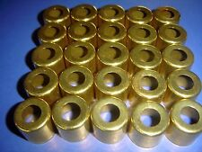 "25- Large Brass Ferrules for Lathe Tool Handles 1"" X 7/8"" Long Free Shipping!"