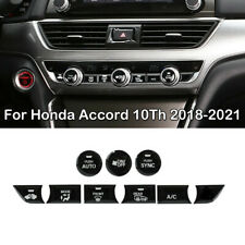 For 2018-2021 Honda Accord Glossy Black Central Control Switch Button Trim Cover