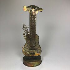 Wind-Up Spinning Musical Guitar Display
