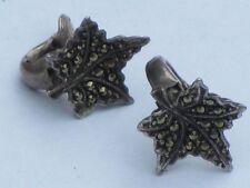 Silver Marcasite Earrings Vintage Costume Jewellery