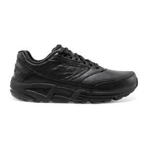 Brooks Addiction Walker Mens BLACK Leather Walking Shoes *FREE DELIVERY AUS WIDE