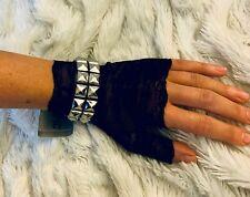 Studded Spike Bracelet Hot topic Leather Punk rock  S/M