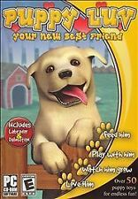 Puppy Luv (PC, 2006) Take care of your favorite dog Feed Play KIDS game computer