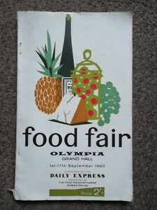 FOOD FAIR OLYMPIA 1st - 17th September 1960 List of Exhibitors 1960's Food Diet