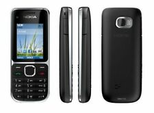 BRANDNEU Nokia C2-01 schwarz Entsperrt BLUETOOTH 3.2MP Kamera UK