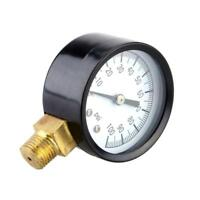 Mini Air Compressor Dial Meter Hydraulic Pressure Manometer Gauge 0-100psi