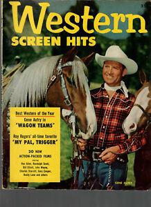 Western Screen Hits No.1,1952 Gene Autry-John Wayne-Roy Rogers....