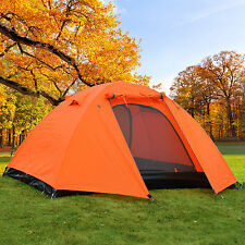 2 Man 3 Season Camping Hiking Climbing Double Layer Backpacking Tent w/ Rainfly