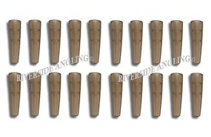 Tail Rubbers For Safety Lead Clips x20 Translucent Brown Terminal Carp Fishing