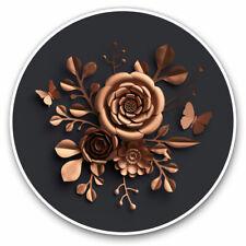 2 x Vinyl Stickers 7.5cm Eiffel Tower Paris Pink Roses Flowers Cool Gift #1481
