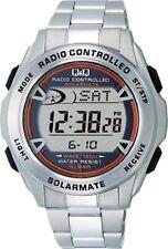 Citizen Q&q Mhs7-200 Men Watch Solar Digital Chronograph Silver F/s Jn157