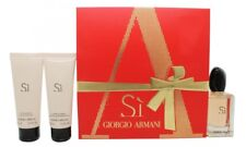 GIORGIO ARMANI SI GIFT SET 50ML EDP + 75ML SHOWER GEL + 75ML BODY LOTION. NEW