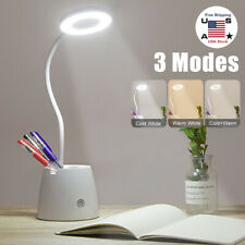 LED Desk Light Bedside Reading Lamp 3 Levels Dimmable Rechargeable Touch Control