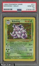 1999 Pokemon Game #11 Nidoking Holo PSA 10 GEM MINT