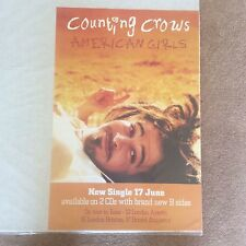 Huge Vintage Counting Crows American Girls Promo Rock Music Poster Memorabilia