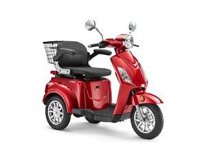 Elektroroller LuXXon E3800 - Senioren E-Dreirad 800 Watt, max 20 km/h & 65 km