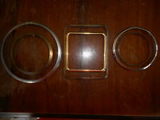 Misc Lot of Clock Parts Frame Bezel Vintage Used Salvaged Square Round lot of 6