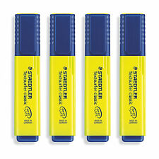 4pcs X STAEDTLER Textsurfer® classic highlighter - Yellow 364-1