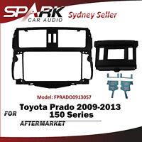 SP 2 DIN Facia Kit Fascia Panel Plate Dash For Toyota Prado 150 Series 2009-2013