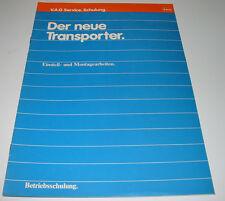 Betriebsschulung Der neue VW Transporter T3 / T 3 Einstellarbeiten Montagearbeit