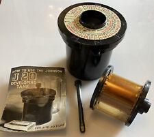 COMPLETE Vintage Johnsons J20 Developing Tank Size 20 Camera Film + Instructions
