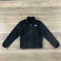 The North Face Women's Fleece Small Black Osito Full Zip Fuzzy Pockets Small