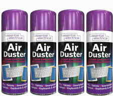 4 x Compressed Air Duster Spray Can Cleans Protects Laptops Keyboards  200ml