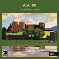 Wales Poster Art NRM 2020 Official Square Wiro Wall Calendar