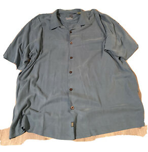 Tommy Bahama Men's 100% Silk Ss Button Camp Shirt Aloha Beach Tiki Sz XLX