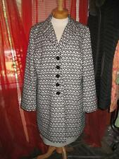 ANN TAYLOR Trench Raincoat  W  Lining BLACK/WHITE JACQUARD Size 2XL NWT