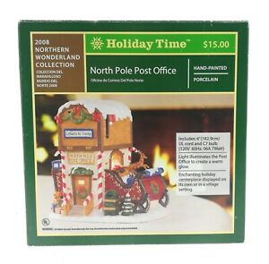 Holiday Time North Pole Post Office Village 2008 Northern Wonderland Collection