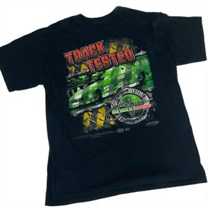 2008 John Force Racing Castrol NHRA Track Tested 2-Sided T-Shirt (Large)