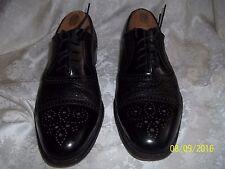 Moreschi Black Peccary/Calf Leather Brogue ? Cap-toe Oxfords Shoes Men 9 US