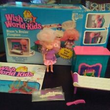Preo Wish World Kids Blaze 'n Braise Fireplace Playset with doll and accessories