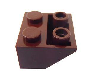 Lego 10 Stück Dachsteine braun (reddish brown) 2x2 invers 3660 Schrägsteine Neu
