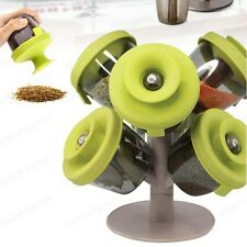 Pop Up Spice Rack Holder Set Spice Organizer Storage boxes Tree w/ 6 Containers