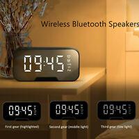 Portable LED Digital Alarm Clock Wireless Bluetooth Speaker MP3 FM Radio Gift