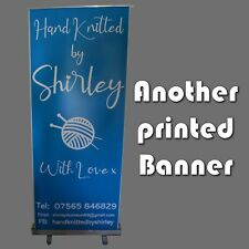 More details for roller pop roll pull banner up display exhibition stand print your artwork
