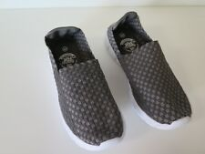 LADIES NEW TXI GREY CHECKED KNITTING WEAVE ELASTIC SLIP ON SIZE 40 CASUAL SHOES