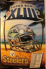 "2009 Super Bowl XLIII Pittsburgh Steelers Champions 24 x 36"" Poster Helmet Tampa"