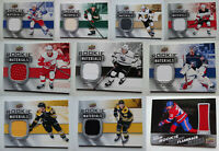 2019-20 Upper Deck Rookie Materials Jersey Relic Hockey Cards U Pick From List