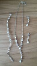 Diamonte necklace, bracelet and earring set