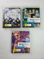 Lot of 3 Singstar PS3 Playstation 3 Games - All in LIKE NEW condition