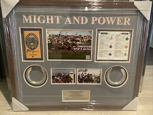 Might & Power Jim Cassidy,Greg Hall and Jack Denham Signed  97 Melb Cup Item COA